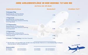 Preisliste Boeing 737