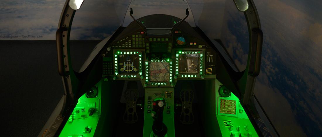 Virtual Reality Full Motion Simulator Eurofighter Typhoon